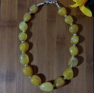 1PC Beautiful African Amber Agate Stone Necklace